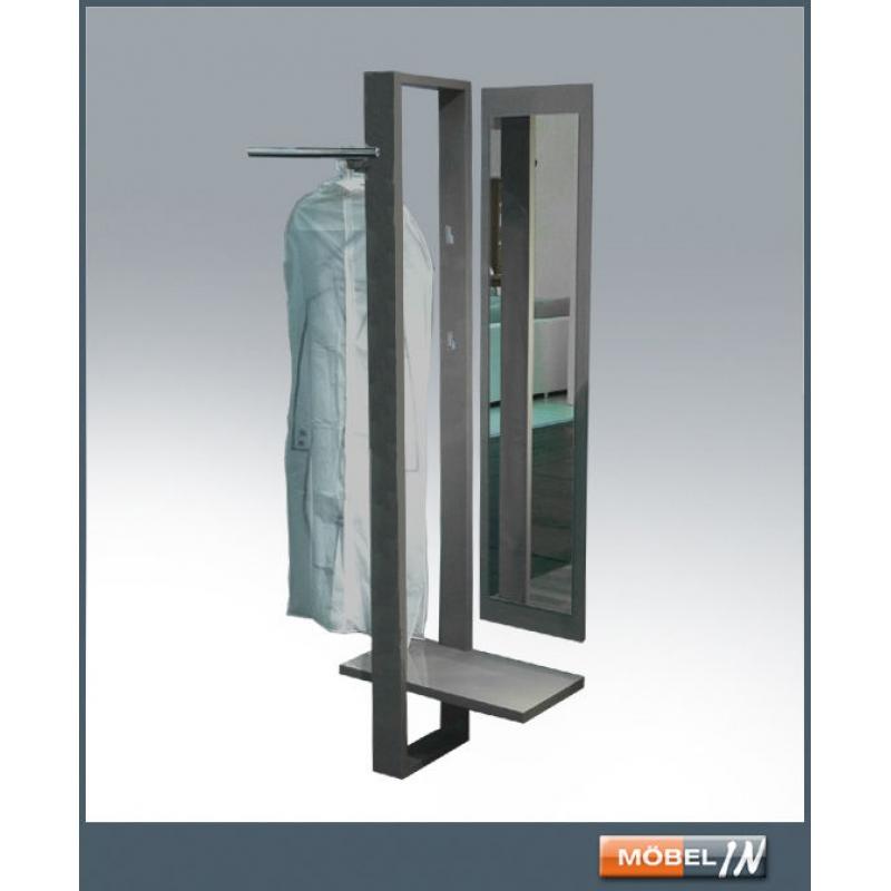 Garderobenpaneel wandgarderobe garderobe wandpaneel mit spiegel anthr - Spiegel mit rollen ...