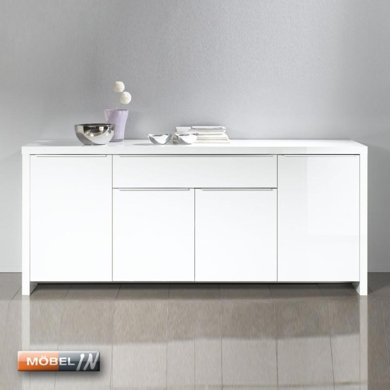 Kommode Schrank Anrichte Highboard Sideboard Regal Ablage Weiss