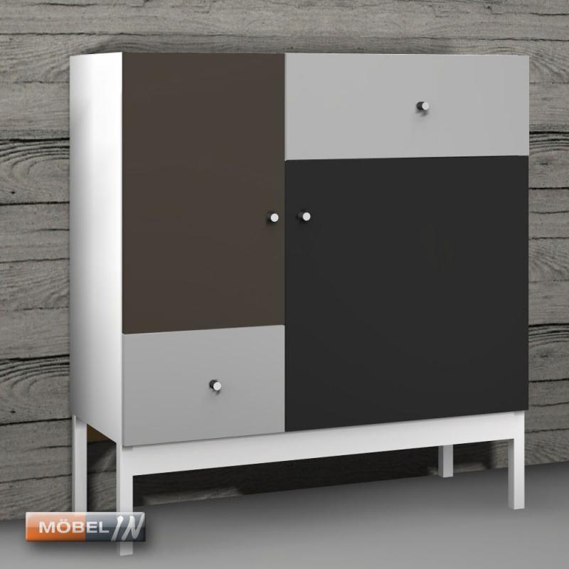Kommode Schrank Anrichte Regal Highboard Sideboard Ablage Style Mocc