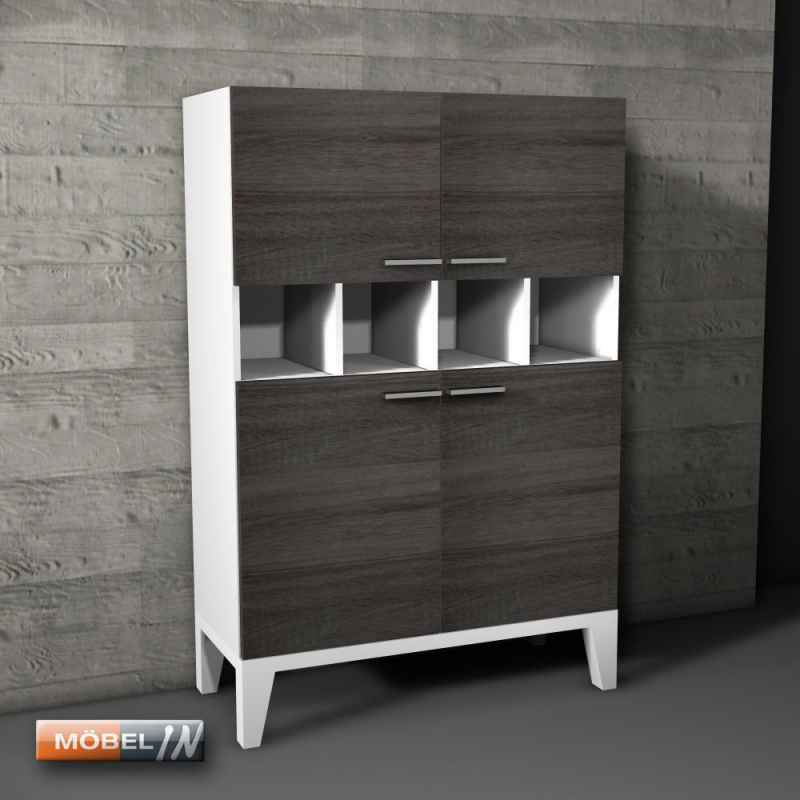 kommode schrank anrichte regal highboard sideboard ablage wei. Black Bedroom Furniture Sets. Home Design Ideas