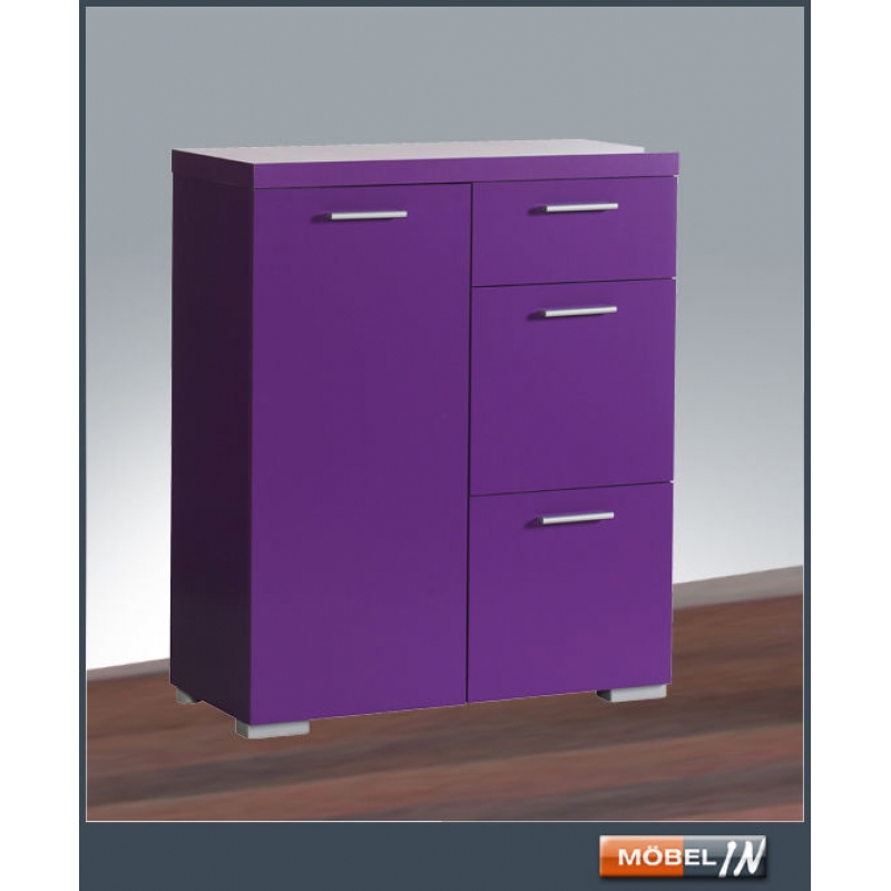 Kommode Schrank Anrichte Regal Highboard Sideboard Ablage In Violett