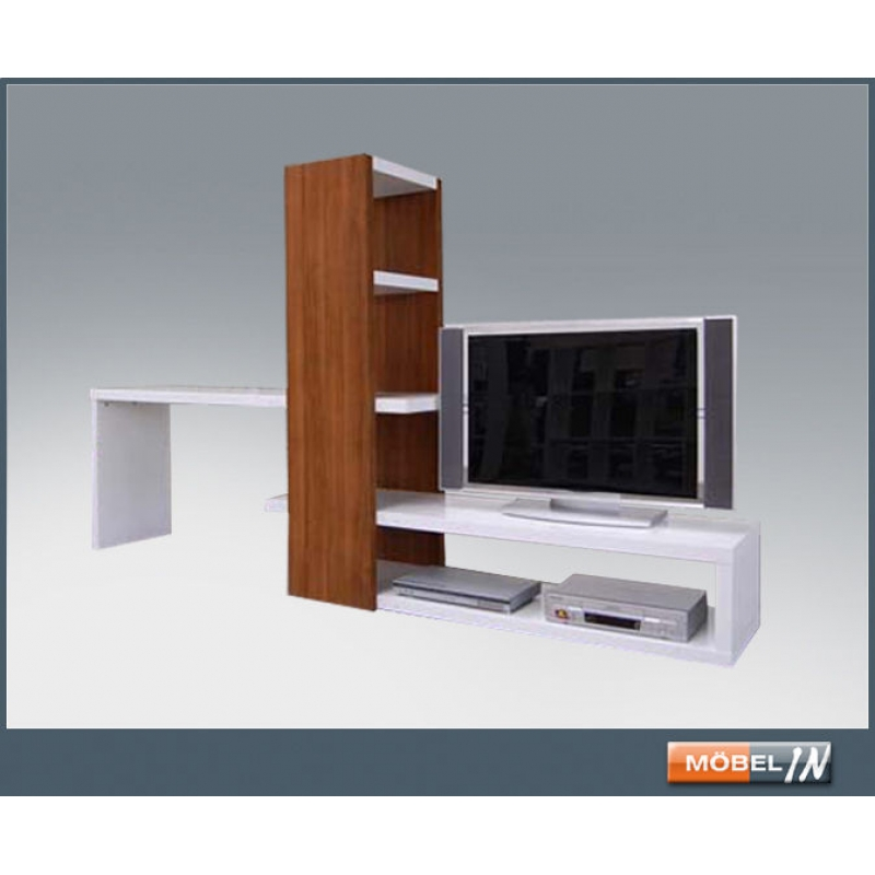 regal tv bank sideboard lowboard tisch raumteiler kombi kernnussbaum. Black Bedroom Furniture Sets. Home Design Ideas