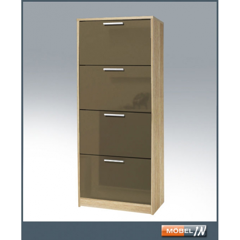 schuhschrank garderobe regal schrank ablage esche muddy hg 4 klappe. Black Bedroom Furniture Sets. Home Design Ideas