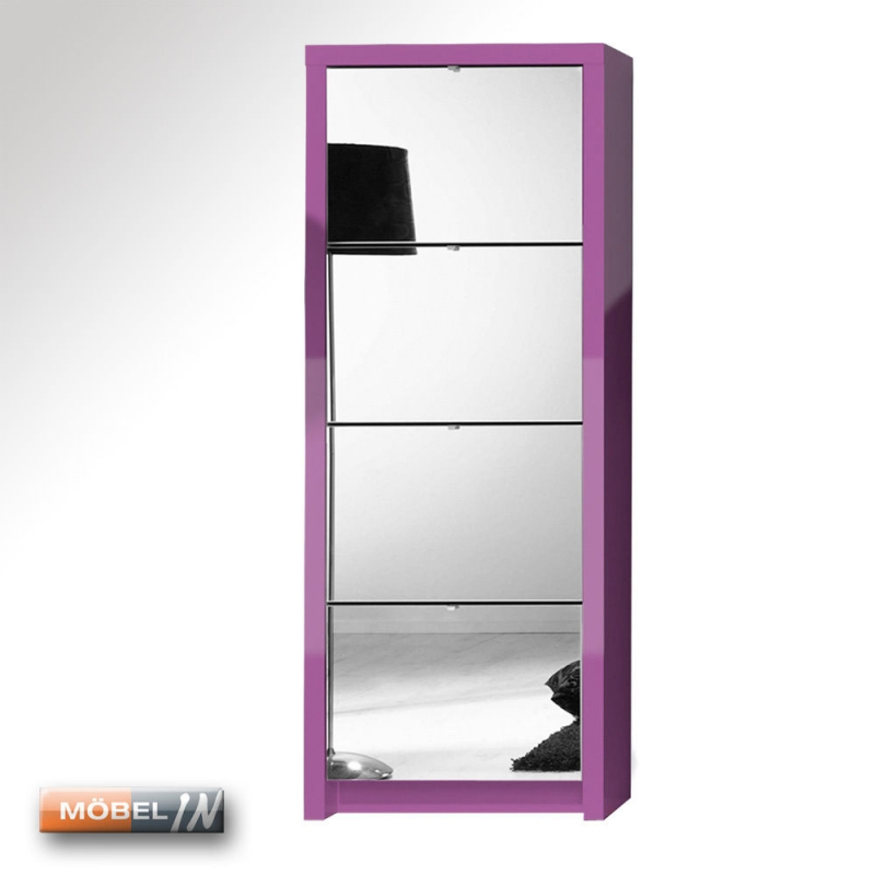 schuhschrank garderobe schuhregal regal schrank 4 klappen mit spiegel. Black Bedroom Furniture Sets. Home Design Ideas