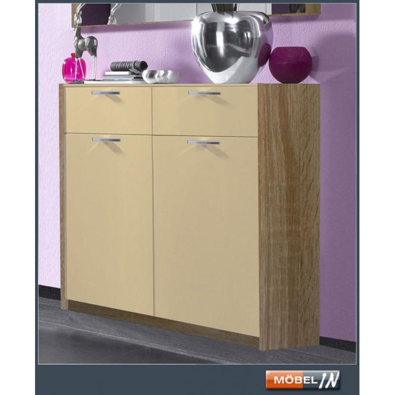schuhregal eiche mainz schuhkipper eiche sonoma mit klappen with schuhregal eiche vcm. Black Bedroom Furniture Sets. Home Design Ideas