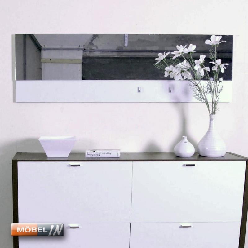 spiegelpaneel garderobe wandpaneel wandspiegel ber 2m breit in wei. Black Bedroom Furniture Sets. Home Design Ideas