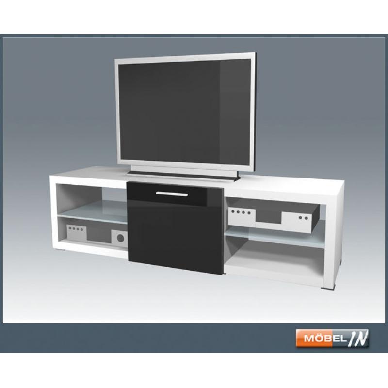Tv Bank Media Schrank Sideboard Regal Lowboard Kommode In Weiß