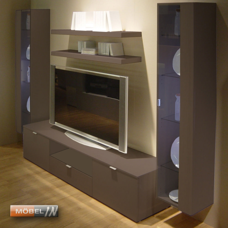 tv bank mediabank lowboard mediaschrank sideboard kommode ablage brau. Black Bedroom Furniture Sets. Home Design Ideas