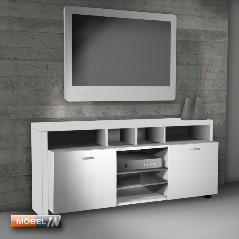 tv bank mediaschrank sideboard regal lowboard kommode ablage wei. Black Bedroom Furniture Sets. Home Design Ideas