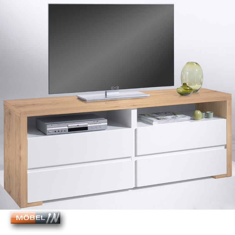 tv bank mediaschrank sideboard regal lowboard kommode sanremo sand mit. Black Bedroom Furniture Sets. Home Design Ideas