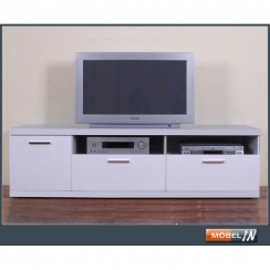 tv bank sideboard lowboard fersehtisch tv tisch in wei hochgla. Black Bedroom Furniture Sets. Home Design Ideas