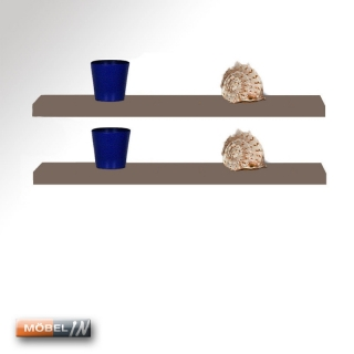 2 boarde wandregal regal bord steckboard ablage 110cm breit in brau. Black Bedroom Furniture Sets. Home Design Ideas