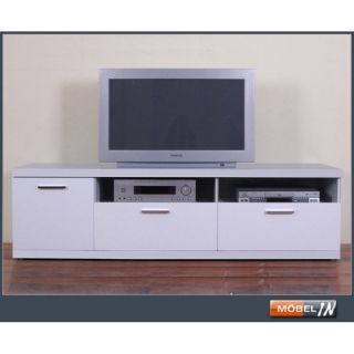TV-Bank Media-Schrank Sideboard Regal Lowboard Kommode Ablage in Weiß Hochglanz