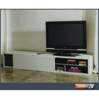 tv bank sideboard lowboard fersehtisch tv tisch in wei hochglanz mit. Black Bedroom Furniture Sets. Home Design Ideas