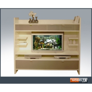 tv wand wohnwand regal schr g weiss hochglanz grau 299 00 eu. Black Bedroom Furniture Sets. Home Design Ideas